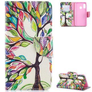 Plånboksfodral Samsung Galaxy A40 – Färgglatt Träd
