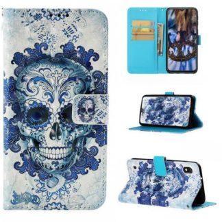 Plånboksfodral Samsung Galaxy A10 – Döskalle