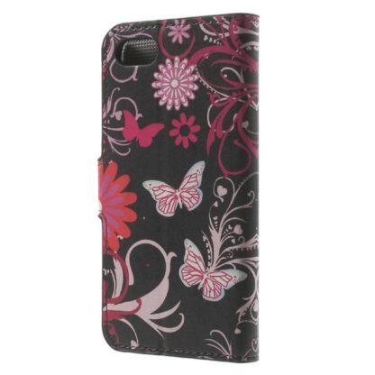Plånboksfodral iPhone SE (2020) - Svart med Fjärilar