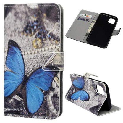Plånboksfodral Apple iPhone 11 Pro Max - Blå Fjäril