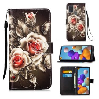 Plånboksfodral Samsung Galaxy A21s – Rosor