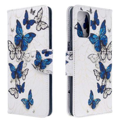 Plånboksfodral Xiaomi Mi 10T Pro – Blåa och Vita Fjärilar