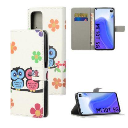 Plånboksfodral Xiaomi Mi 10T Pro - Ugglor & Blommor