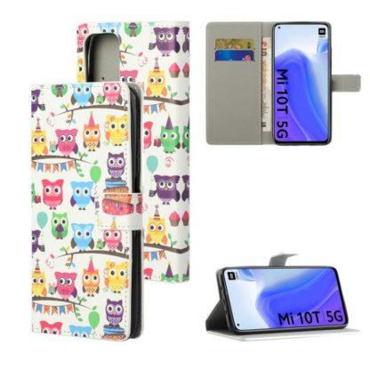 Plånboksfodral Xiaomi Mi 10T Pro - Ugglor På Kalas