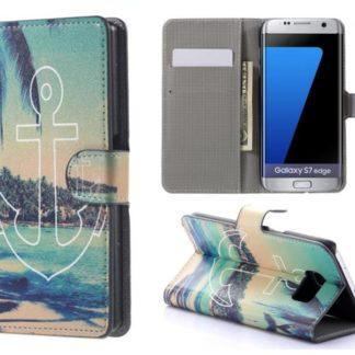 Plånboksfodral Samsung Galaxy S7 Edge - Ankare