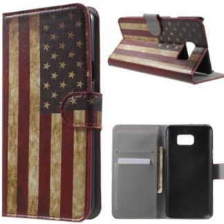 Plånboksfodral Samsung Galaxy S7 Edge - Flagga USA