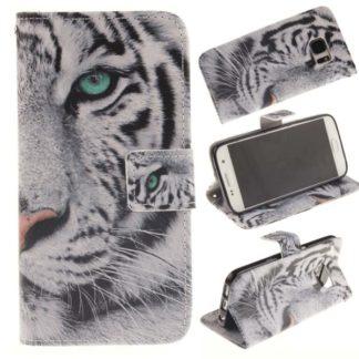 Plånboksfodral Samsung Galaxy S7 – Vit Tiger