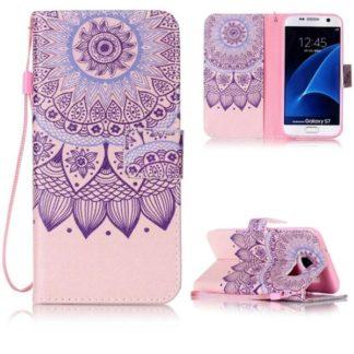 Plånboksfodral Samsung Galaxy S7 – Blomma