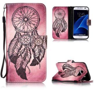Plånboksfodral Samsung Galaxy S7 - Drömfångare Rosa/Röd