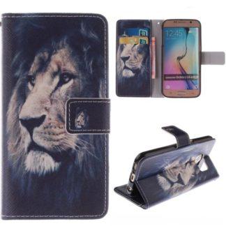 Plånboksfodral Samsung Galaxy S6 Edge – Lejon