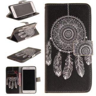 Plånboksfodral iPhone 8 Plus – Drömfångare Vit/Svart