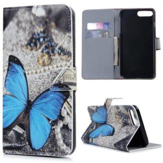 Plånboksfodral Apple iPhone 8 Plus – Blå Fjäril