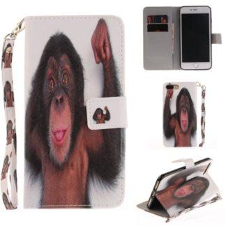 Plånboksfodral Apple iPhone 8 Plus – Schimpans