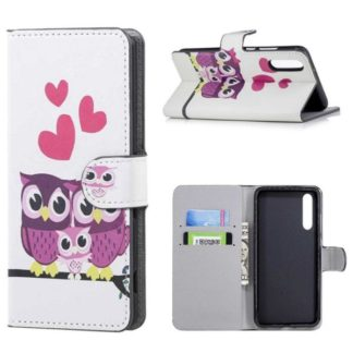 Plånboksfodral Huawei P20 Pro - Ugglor & Hjärtan