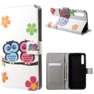 Plånboksfodral Huawei P20 Pro - Ugglor & Blommor