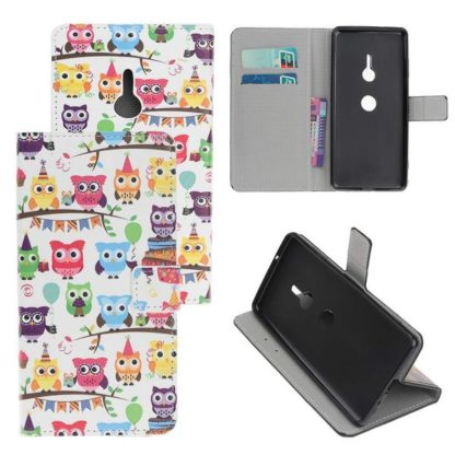 Plånboksfodral Sony Xperia XZ3 - Ugglor På Kalas