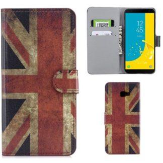 Plånboksfodral Samsung Galaxy J4 Plus - Flagga UK