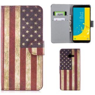 Plånboksfodral Samsung Galaxy J4 Plus - Flagga USA