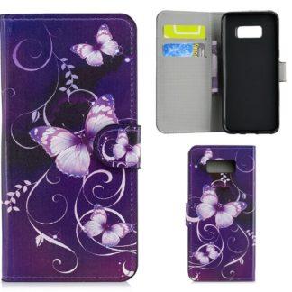 Plånboksfodral Samsung Galaxy S10e - Lila med Fjärilar