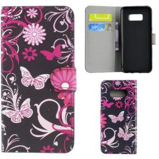 Plånboksfodral Samsung Galaxy S10e - Svart med Fjärilar