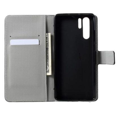 Plånboksfodral Huawei P30 Pro - Prickigt med Uggla