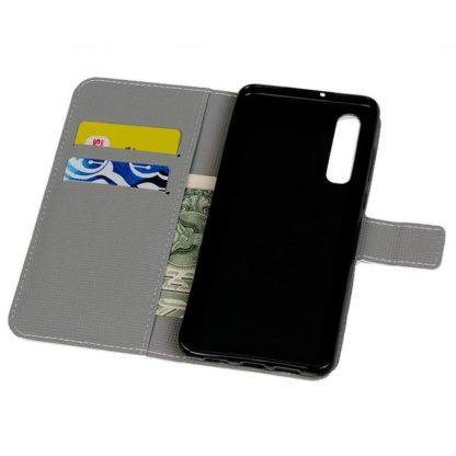 Plånboksfodral Huawei P30 - Ugglor & Blommor