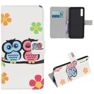 Plånboksfodral Samsung Galaxy A50 - Ugglor & Blommor