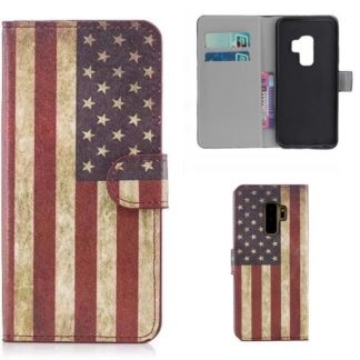 Plånboksfodral Samsung Galaxy S9 Plus - Flagga USA