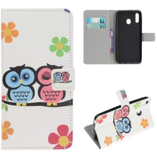 Plånboksfodral Samsung Galaxy A40 - Ugglor & Blommor