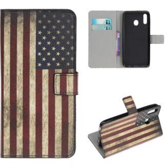 Plånboksfodral Samsung Galaxy A40 - Flagga USA