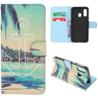 Plånboksfodral Samsung Galaxy A40 - Ankare