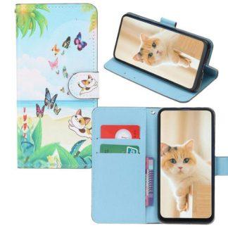 Plånboksfodral Huawei P30 – Katt & Fjärilar