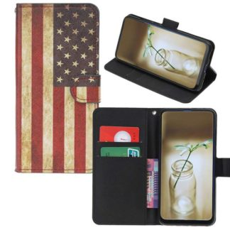Plånboksfodral Huawei P30 Pro - Flagga USA