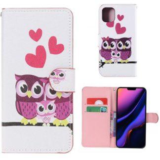 Plånboksfodral Apple iPhone 11 - Ugglor & Hjärtan