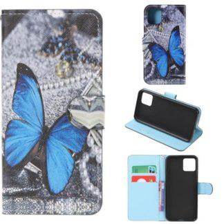 Plånboksfodral Apple iPhone 11 - Blå Fjäril