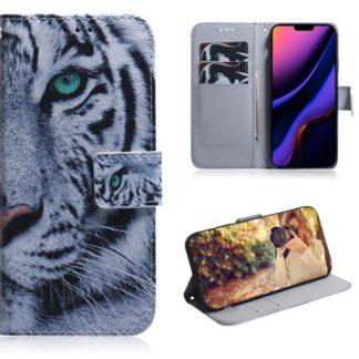 Plånboksfodral Apple iPhone 11 - Vit Tiger