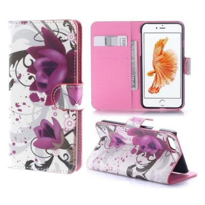Plånboksfodral iPhone SE (2020) - Lotus