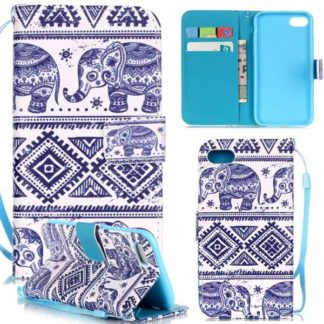 Plånboksfodral iPhone SE (2020) - Indiskt / Elefanter