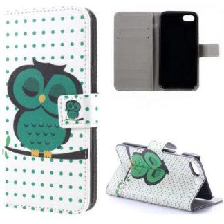 Plånboksfodral iPhone SE (2020) – Prickigt med Uggla