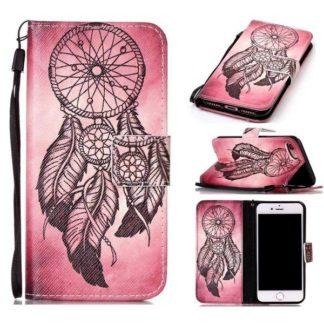 Plånboksfodral iPhone SE (2020) – Drömfångare Rosa/Röd