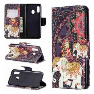 Plånboksfodral Samsung Galaxy A40 – Indiskt / Elefant