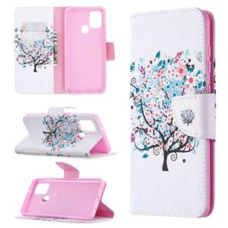 Plånboksfodral Samsung Galaxy A21s – Färgglatt Träd