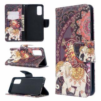 Plånboksfodral Samsung Galaxy S20 FE - Indiskt / Elefant