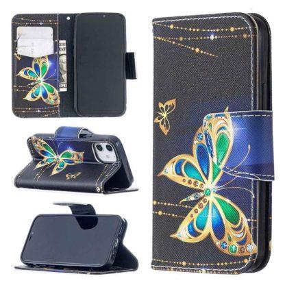 Plånboksfodral Apple iPhone 12 Mini – Guldfjäril