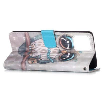 Plånboksfodral Apple iPhone 12 – Utsmyckad Uggla