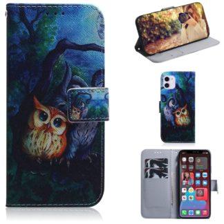 Plånboksfodral Apple iPhone 12 – Ugglor I Månsken