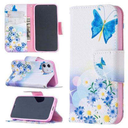 Plånboksfodral Apple iPhone 12 – Fjärilar och Blommor