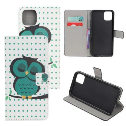 Plånboksfodral Apple iPhone 12 Pro - Prickigt med Uggla