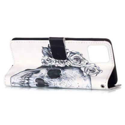 Plånboksfodral Apple iPhone 12 Pro – Döskalle / Rosor