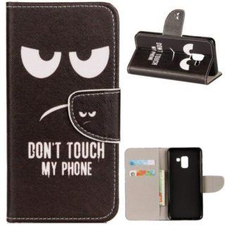 Plånboksfodral Samsung Galaxy A8 (2018) – Don't Touch My Phone